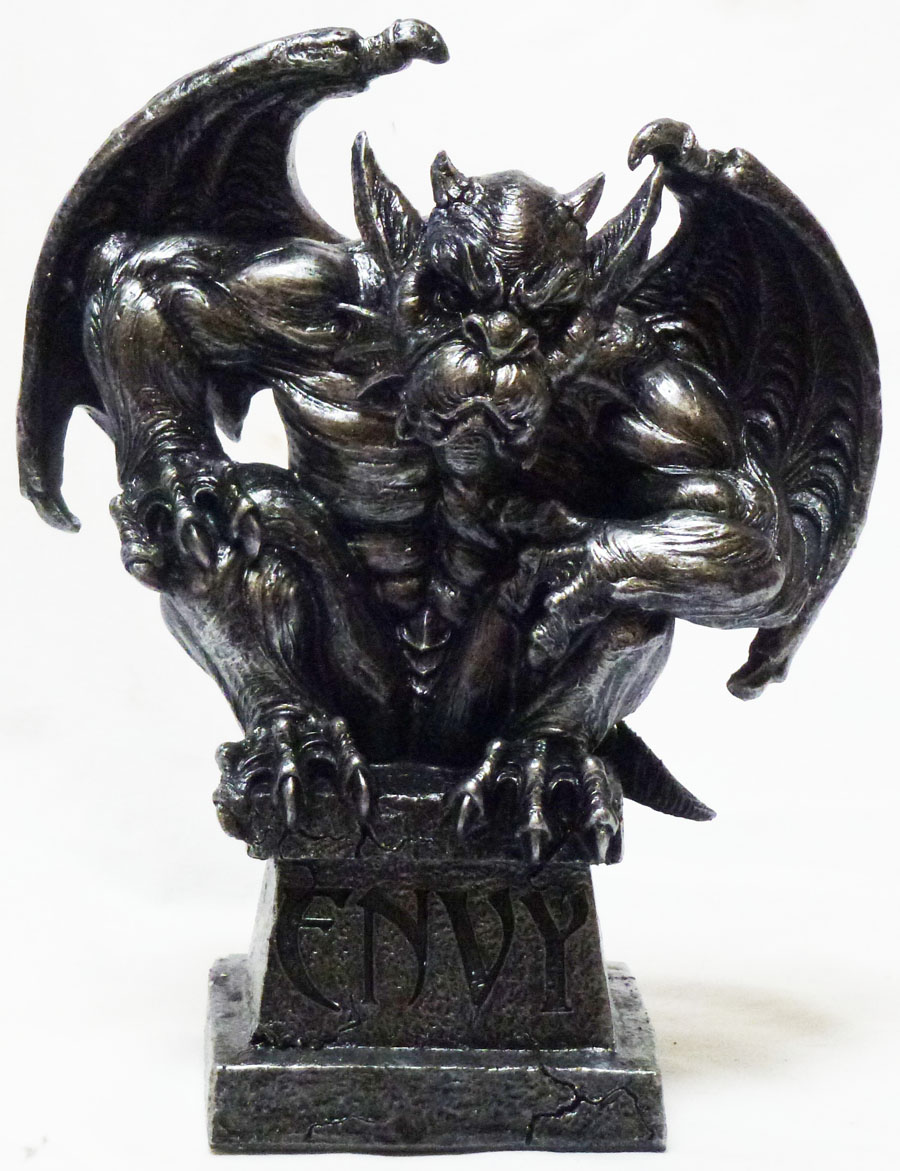 Medieval Decorative Figurine Statue Seven Deadly Sins Envy ... |Seven Deadly Sins Statues