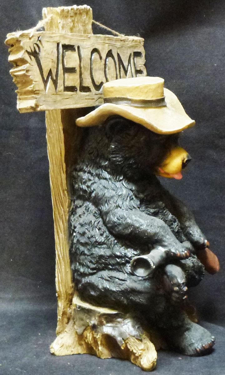 "BEARY GROUCHY   Go Away Bear  statue figure DWK H16/"" x W10/"""